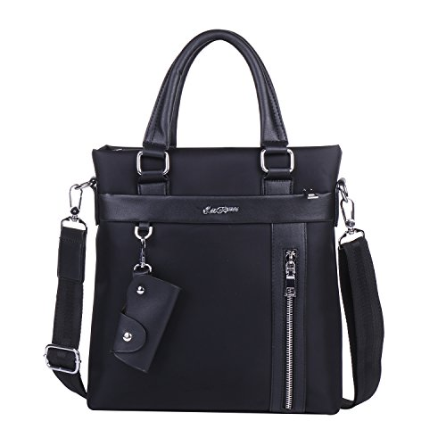 Men's Waterproof Briefcase Business Shoulder Bag [Black/Blue Horizontally Long/Vertically Long with Key Case] Messenger Handbag (Vertically Long, - 600 Sunglasses 800 X