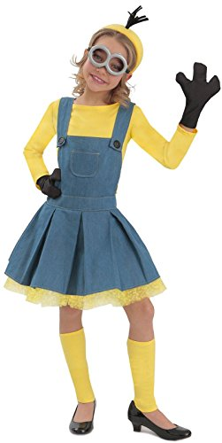 (Girl's Minions Deluxe Jumper -)