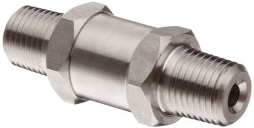 Parker 316 Stainless Steel Process Check Valve with Fluorocarbon Rubber Seat, 1/4