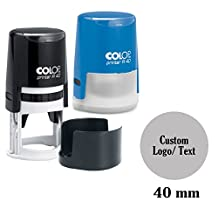 COLOP Self Inking Rubber Stamp Custom Round Logo Stamper Personalized 40mm / 4cm