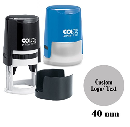 COLOP Self Inking Rubber Stamp Custom Round Logo Stamper Personalized 40mm / 4cm -