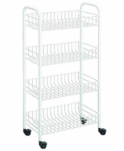 Wireworld Metaltex USA Inc. 4-tier Rolling Cart, White