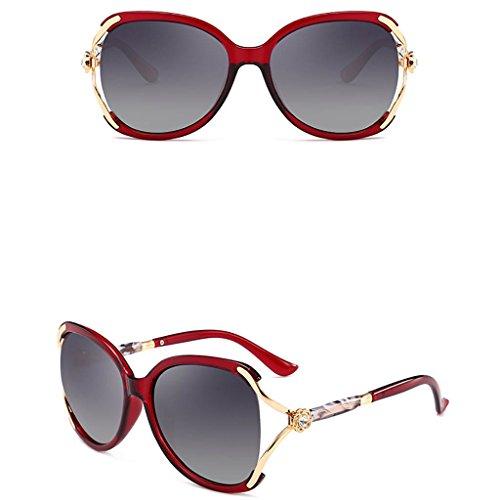 de gran Ladies Gafas Classic D Fashionable Gafas sol C Sungeye con Gafas de Color tamaño de lentes sol polarizadas 8IqApO