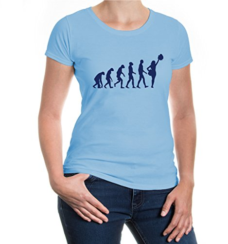 buXsbaum® Girlie T-Shirt The Evolution of cheerleading Skyblue