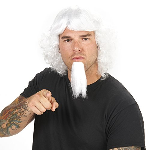 Dream Weavers Costumers White Uncle Sam Wig and Goatee Adult Wig