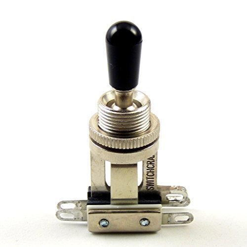 Switchcraft 3-Way Short Toggle Switch w/ Genuine Switchcraft Black Tip ()