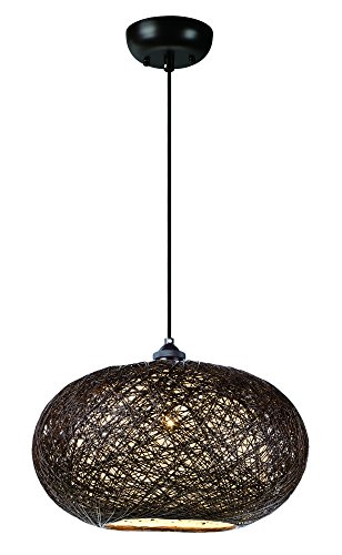 - Maxim 14402CHWT Bali 1-Light Chandelier, Finish, Glass, MB Incandescent Incandescent Bulb , 60W Max., Dry Safety Rating, Standard Dimmable, Steel Mesh Shade Material, Rated Lumens