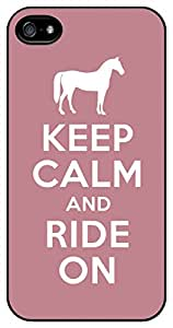 Keep Calm and Ride On Pink iPhone 4/4s Case Cover