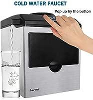 Northair 2 en 1 máquina de hielo con dispensador de agua, 40 ...