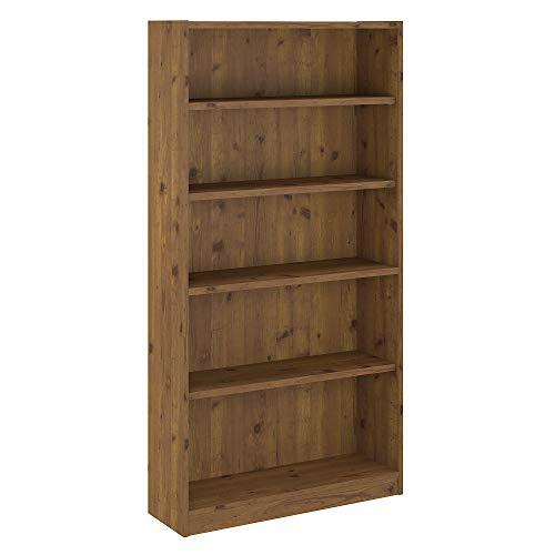 Bush Furniture WL12491-03 Universal 5 Shelf Bookcase, Vintage Golden Pine ()
