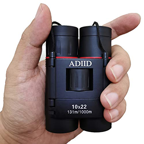 Binoculars for adults compact lightweight,10x22 Small Compact Lightweight Binoculars for Bird Watching Traveling Sightseeing Concert Theater Opera,Boy Girl's Best Toy Gift (Best Compact Binoculars For Alaska Cruise)