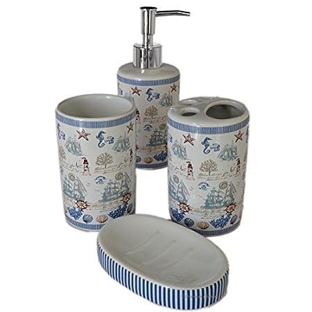 41q4j5aWgWL._SS450_ 50+ Beach Bathroom Accessory Sets and Coastal Bathroom Accessories