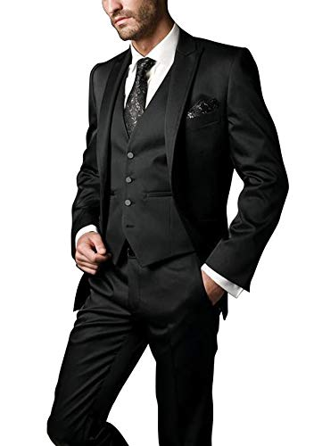 bc4cad96ada Faiokaver Wedding Suits for Men Big and Tall Classic Fit Tuxedo Morning  Suits