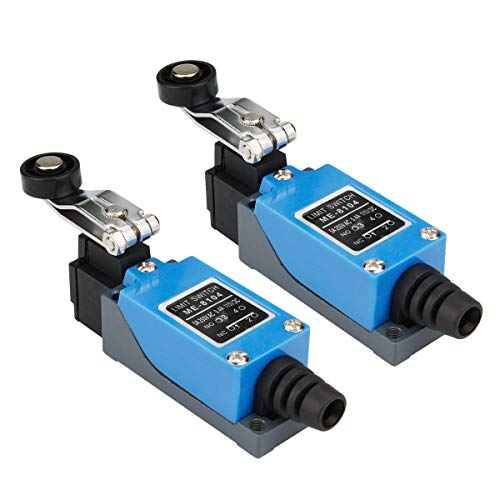 Electrical Buddy Roller Lever Arm Momentary Limit Switch ME-8104 1NC+1NO 2PCS ()