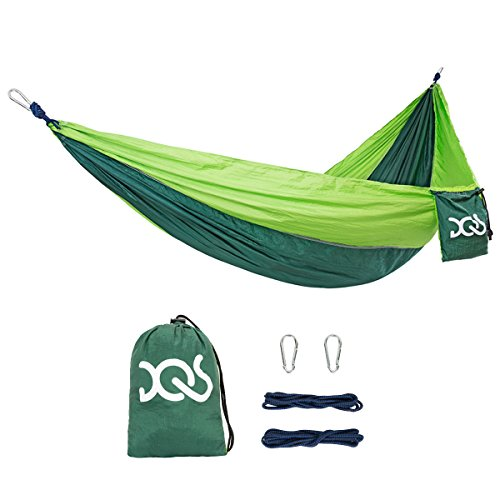 DQS Double Camping Hammock, Portable Lightweight Parachute Nylon Fabric Hammock,600 lbs Capacity, for Outdoor, Hiking, Camping, Backpacking, Travel, Backyard, Beach, Any - Sunglasses Compare Best