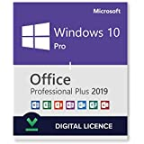 Vitalício Windows 10 Pro + Office 2019 Pro Plus 64 bits Licença fácil pronto para usar via download