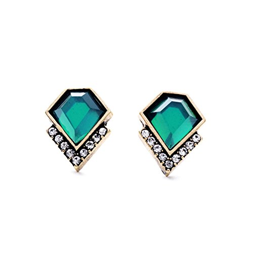 BEAUTIFUL GREEN EMERALD EARRINGS