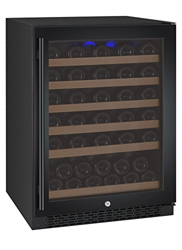 Allavino VSWR56-1BWRN 56 Bottle Single Zone Wine Refrigerator with Black Door & Right Hinge by Allavino