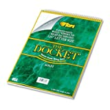TOPS® Docket Wirebound Ruled Pad w/Cover, Legal Rule, Ltr, White, 70 Sheets/Pad