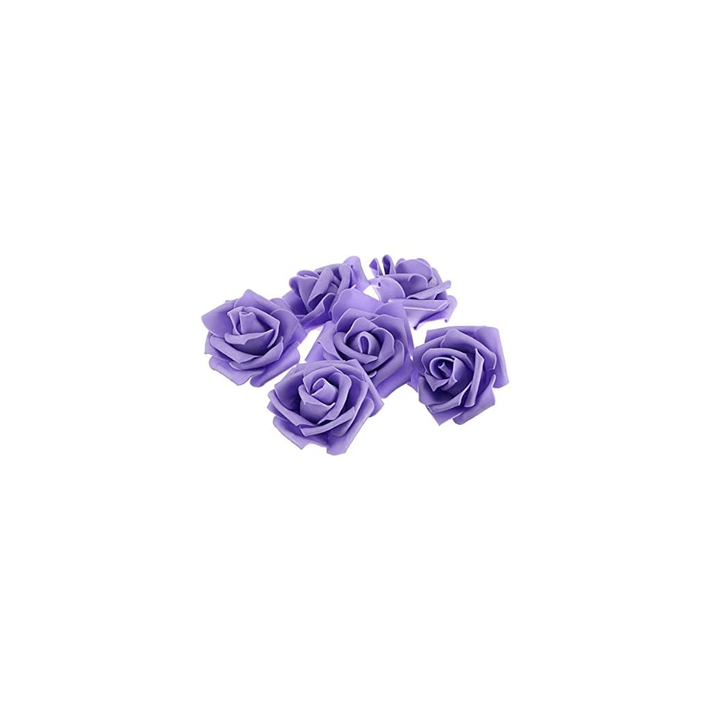 Tinksky-Artificial-Foam-Roses-Flowers-for-Home-Wedding-Decoration-Bridal-Shower-FavorPack-of-50-Purple