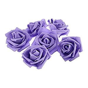 Tinksky Artificial Foam Roses Flowers for Home Wedding Decoration Bridal Shower Favor,Pack of 50 (Purple) 78