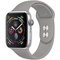 Robotekno Apple Watch Uyumlu Silikon Kordon 38mm 40mm, Silikon Kayış 1 | 2 | 3 | 4 | 5 (38mm/40mm, Gri)