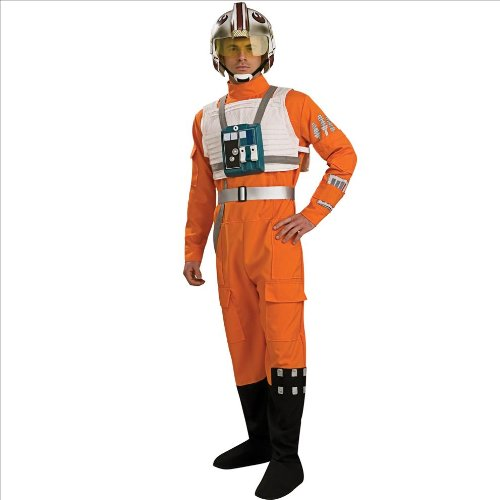 X Wing Fighter Pilot (Star Wars X-Wing Pilot Costume - X-Large - Chest Size 44-46)