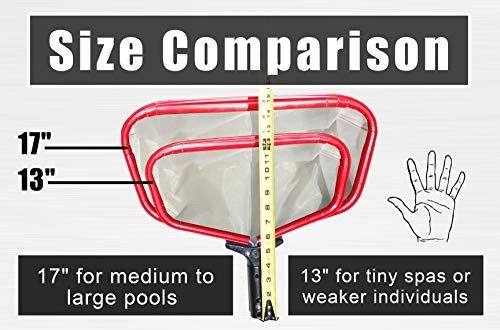 "ProTuff 17"" Pool Silt Net - Unlimited Free Replacement Guarantee - Heavy Duty Fine Mesh Silt & Sand Swimming Pool Skimmer Cleans 3X Faster Than Vacuum - 18 inch Leaf Rake Bag for Pollen, Gnats"