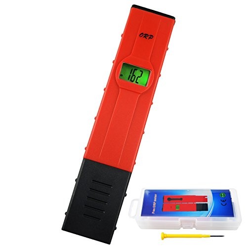TekcoPlus -1999mV ~ +1999mV Millivolts Pen-type Digital Redox ORP Water Meter Tester with Backlight LCD Pool Aquarium Hydroponics Spas Water System
