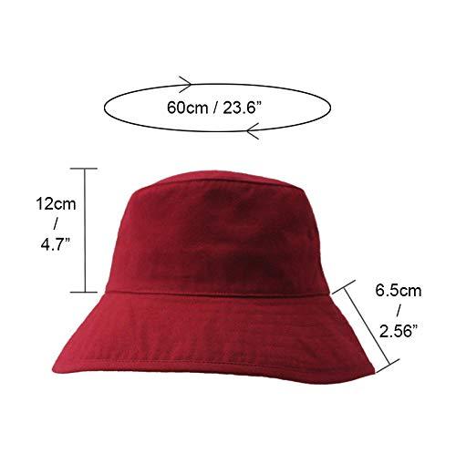 Orange TREESTAR Summer Simple Monochrome Double Layer Fisherman Hat Unisex Bucket Hat for Outdoor Tourism Sun Protection Fishing Hat 1Pcs