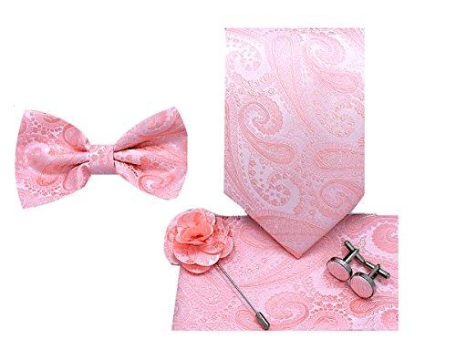 Oliver George 5pc Box Set (Paisley - Men Necktie Accessories