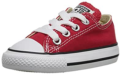 Converse Unisex Chuck Taylor All-stars Ox Skate/Lifestyle, Red, 2 M US Infant
