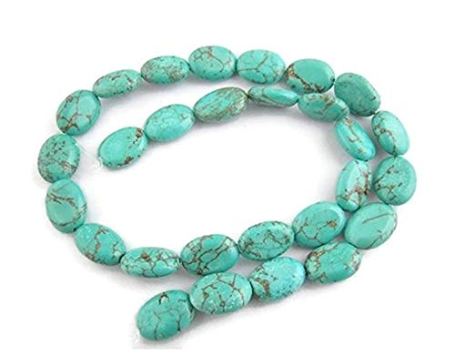 Oval Turquoise Beads Craft DIY Findings Jewelry Making - Turquoise Oval Charm