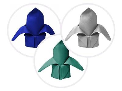 "BalsaCircle 10 pcs 20"" Polyester Fabric Napkins Wedding Table Top Supply - 24 colors"
