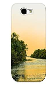 Galaxy Note 2 Case Cover - Slim Fit Tpu Protector Shock Absorbent Case (landscapes Nature Jungle Rivers )