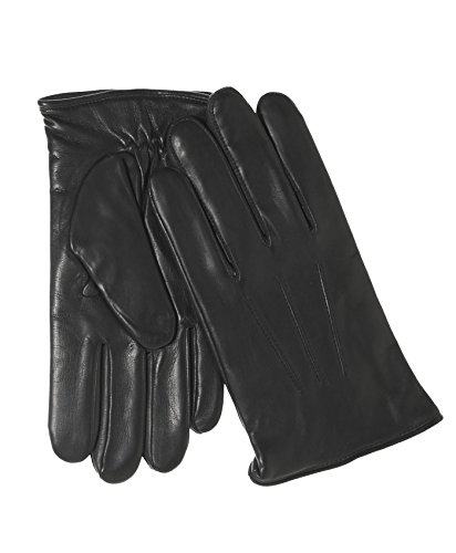 - Fratelli Orsini Everyday Men's Italian Lambskin Cashmere Lined Winter Leather Gloves Size M Color Black