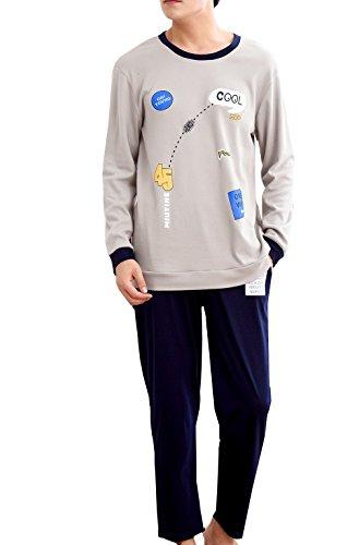 Big Boys Casual Fun Long Sleeve Cotton Pajamas Sets Loungewear 11-18 ()