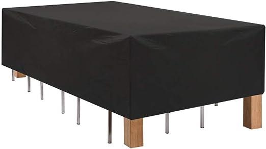 IDWOI Fundas para Muebles De Jardín Juego De Mesa Y Sillas para Patio Impermeable Anti-Fade Cubierta De Muebles, Negro (Size : 250x250x90cm): Amazon.es: Hogar