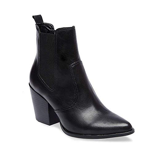 Bootie Steve 5 Us 5 Leather Black Patricia Casual Madden Women's wAqHXAxBf
