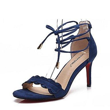 LvYuan-GGX Damen High Heels Komfort Schwarz Nubukleder Sommer Normal Komfort Schwarz Komfort Blau Hautfarben 7,5-9,5 cm, Nude, us5 / eu35 / uk3 / cn34 - 7ec550