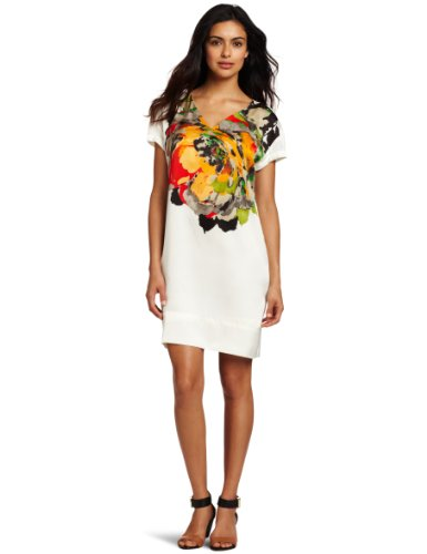 Kenneth Cole New York Women's Placed Peony Print Shift Dress