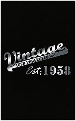 Amazon.com: Volumen Tee Vintage establecido en 1958 ...
