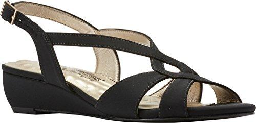 - Walking Cradles Women's Dixie Demi Wedge Slingback,Black Micro,US 8 N