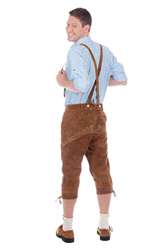 Bavarian-traditional-leather-trousers-Lederhosen-with-suspenders-middlebrown