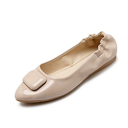 Ballet Ladies Sweet Beige JIEEME Women toe Pointed Black Blue Single Flat Spring shoes flats awwFqxY