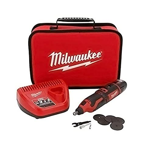 Milwaukee - Portable and Cordless Lithium-Ion M12TM Rotary Tool Kit / Set (Battery Powered) (Hand Powered Tools)