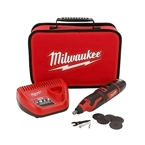 Milwaukee - Portable and Cordless Lithium-Ion M12TM Rotary Tool Kit / Set (Battery Powered)