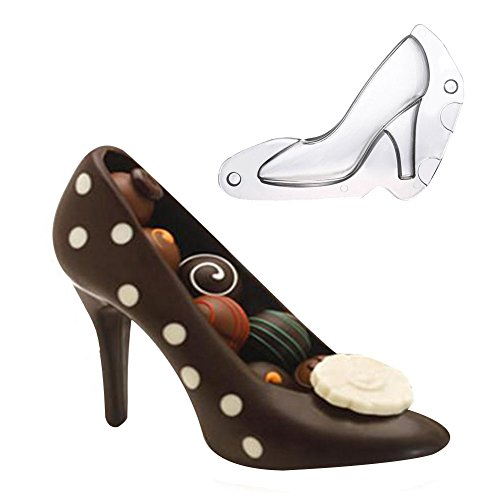 3D Cake High Heel Shoe Mold Chocolate Mold Bundle Molding Fondant Candy Decorating DIY Home Baking 5.9 inch Long