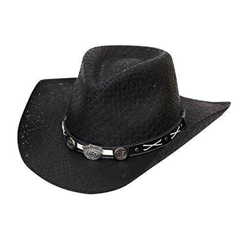 Jack Daniels Men's Daniel's Soft Toyo Straw Cowboy Hat Black Medium Jack Daniels Cowboy Hats