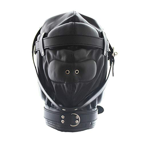 Human Nightclub Hooded Performance Mask Couples play gamesWith Air Holes Pink Headgear Toys Female Appliances Human face cover Toys Bondage ()